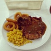 Grilled Chix With Corn / Onion Rings