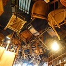 "At Brother Baba Budan, or what I call the ""cafe with the weird chairs hanging off the ceiling""."