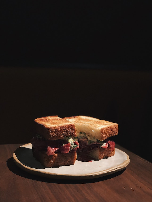 Beef Tongue And Gribiche Sandwich