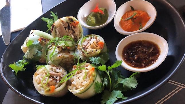 Hainanese Chicken Rice Roll