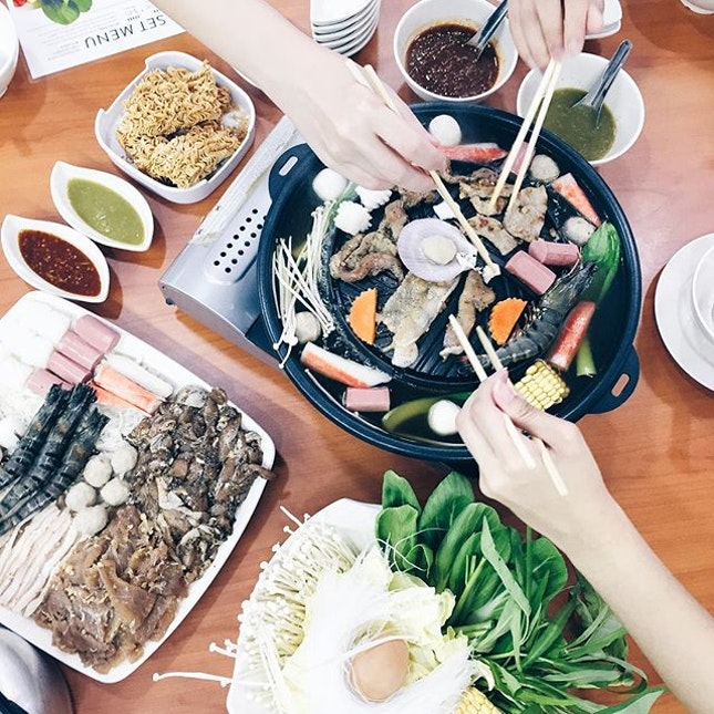300316// Ytd's Mookata feasting at @chokchai_mookata at Blk 340 AMK Ave.