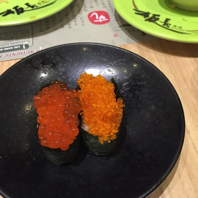 Salmon & Fish Roe Sushi