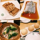 Pan Fried Carrot Cake, Pig Liver Chee Cheong Fun, Baked Char Siew Bun, Crystal Dumplings