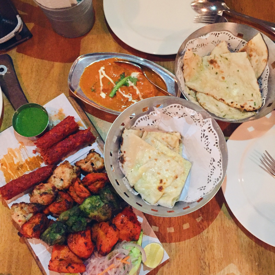 Tandoori kitchen - Tandoori Platter Chicken Malai Kebab Chicken Kebab Murg Pudina Mutton Seekh