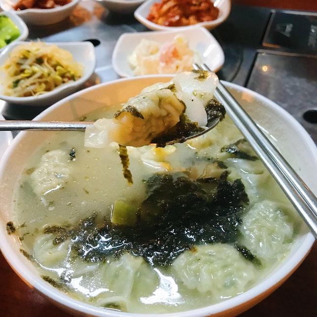 Dumpling Rice Cake Soup ($15+)
