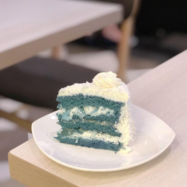 Blue Pea Coconut Cake