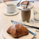 Almond Croissant, Iced Cappuccino