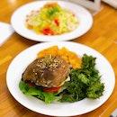 Portobello Burger ($20++ U.P.), Zucchini Noodle Carbonara ($16++ U.P.); Both On Burpplebeyond