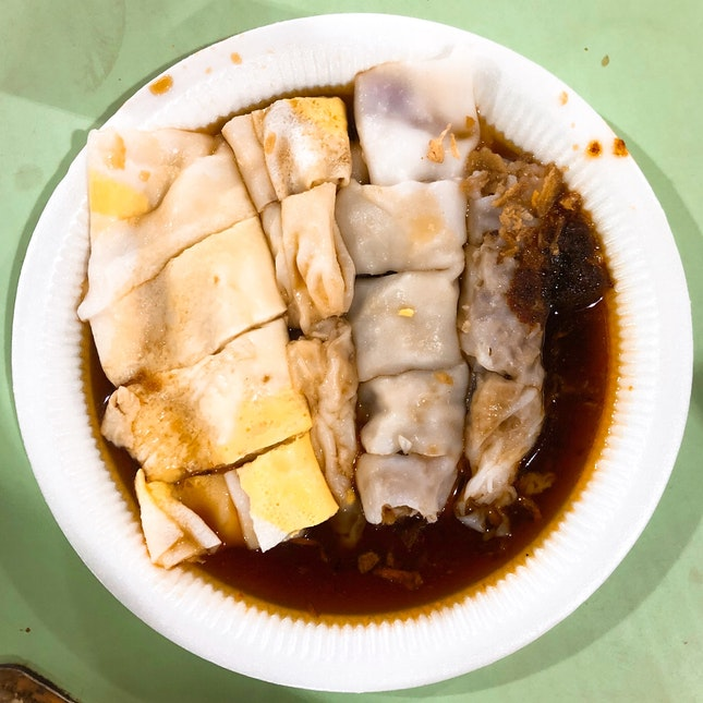 Egg And Turnip Chee Cheong Fun ($2.50 Each/ Min 两条)