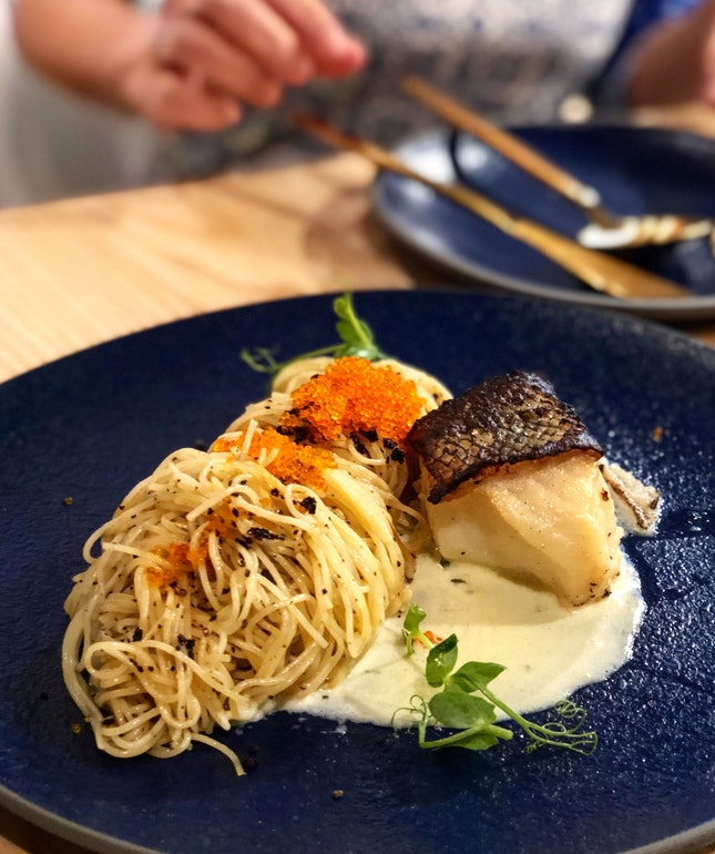 Miso Cod with Capellini ($30)