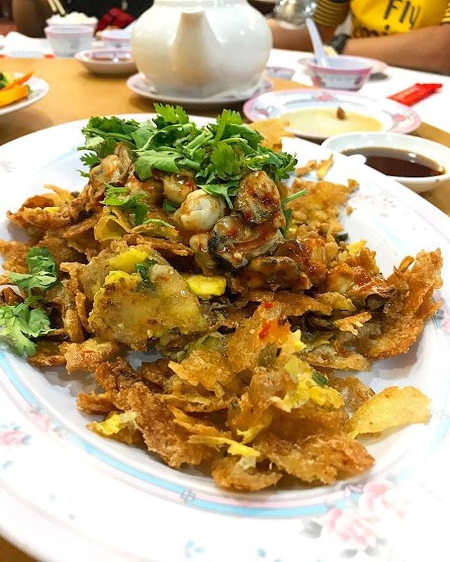Oyster Omelette ($28) .