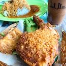 Ayam Penyet Set ($4.80) & Iced Yuan Yang ($2)