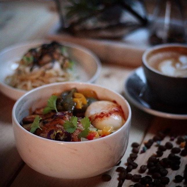 Coffee Gula Melaka Pork Loin Bowl ($24++).