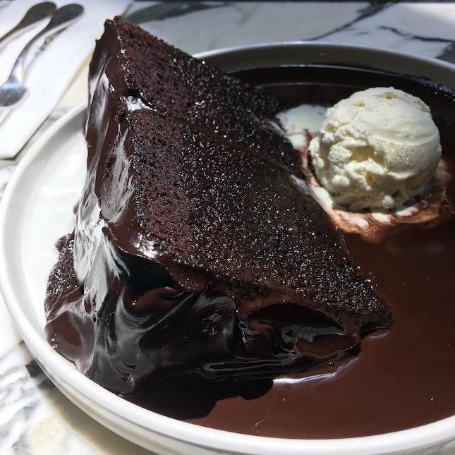 Warning: Extremely HUGE Slice Of Rich Fudgey Chocolate Cake ($16)