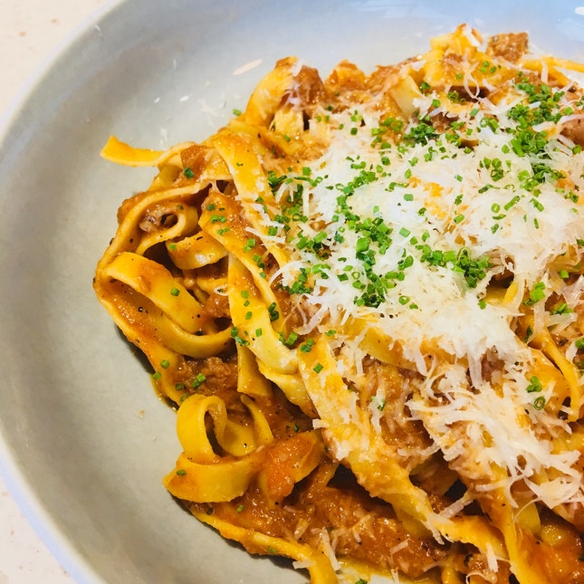 Beef Ragout Pasta ($18.90 Set Lunch)