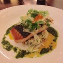 Salmon With Risotto And Fennel Salad