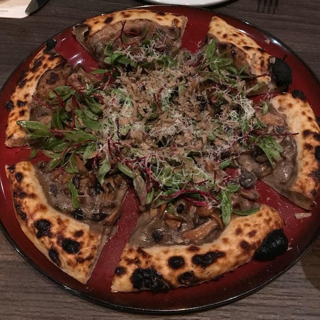 Mushrooms, Truffle, Mascarpone and Tuscan Pecorino [$32]