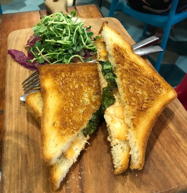 Toastie Of The Day - Smoked Salmon, Kale & Cream Cheese Toastie [$15]