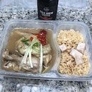 Nourishing Ginseng Chicken with dried goji berry, red date and mixed rice [$13.50] & Cold Brew Dutch Coffee by boyle's coffee [$4.95]
