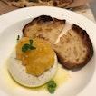 Burrata, Meyer Lemon Jam, Ciabatta Bread, Basil [$24]