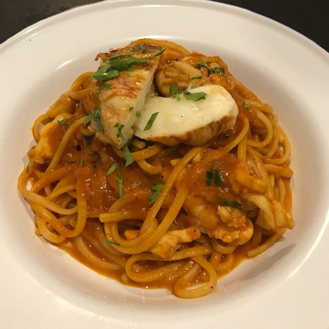 Slipper Lobster Linguine [$26]