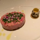 """Prime Sirloin """"Steak Tartare"""" Herb Aioli, Mustard [$33]"""