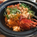 Lobster Vermicelli with Black Truffle Har Mi XO [$88]