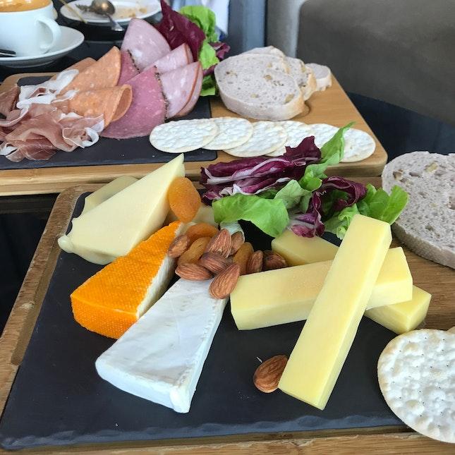 Cheese platter [$18] & Cold Cut platter [$18]