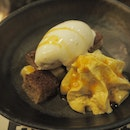 BBC | textures of banana, beer stout ice cream, warm caramel sauce [$15]