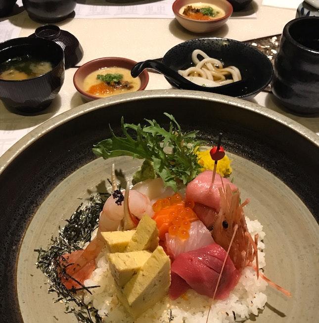 Chirashi Teishoku [$52]