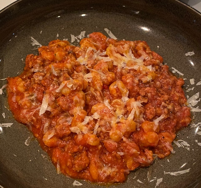Homemade Chiusoni with Italian Style Pork Sausage Ragoût [$48]