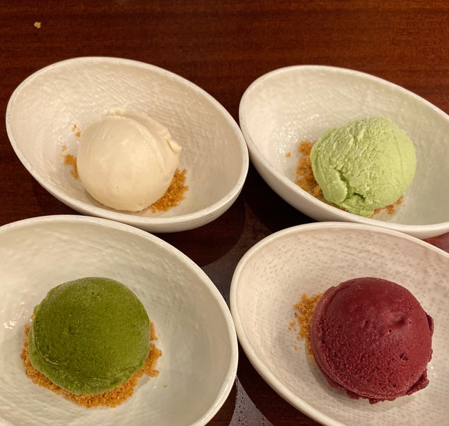 Ice cream galore! Not what you'd expect from a fancy bar. [$6/each]