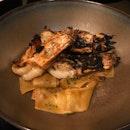 PAPPARDELLE - handmade pasta, crustacean cream, tiger prawns, blue mussels [$38]