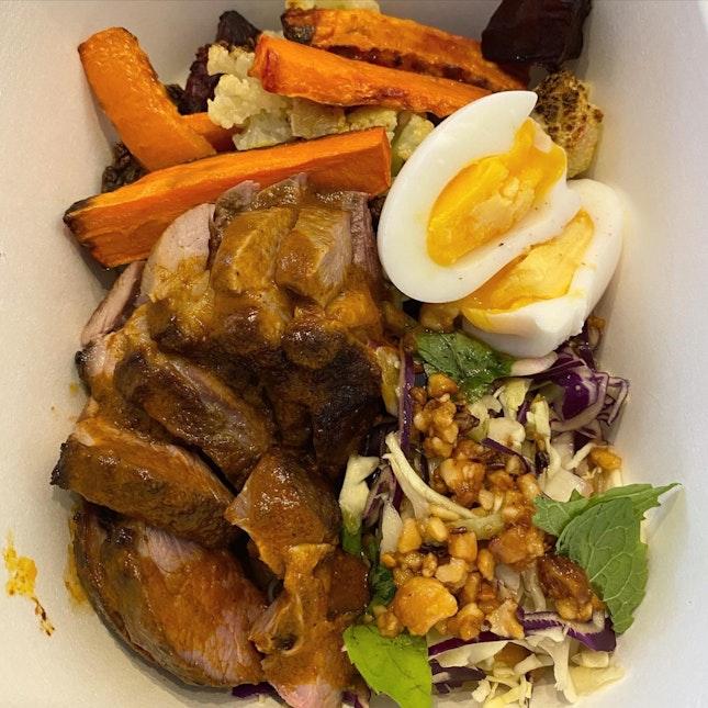 Rotisserie Lamb, Mixed Veg and Guacamole Bowl (Keto-friendly) [$17]