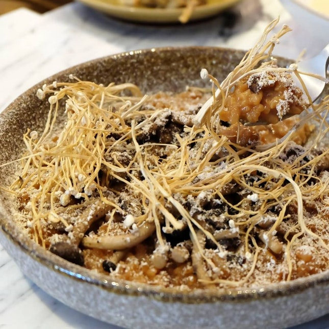 Dashi Risotto With Mushroom Textures ($17)