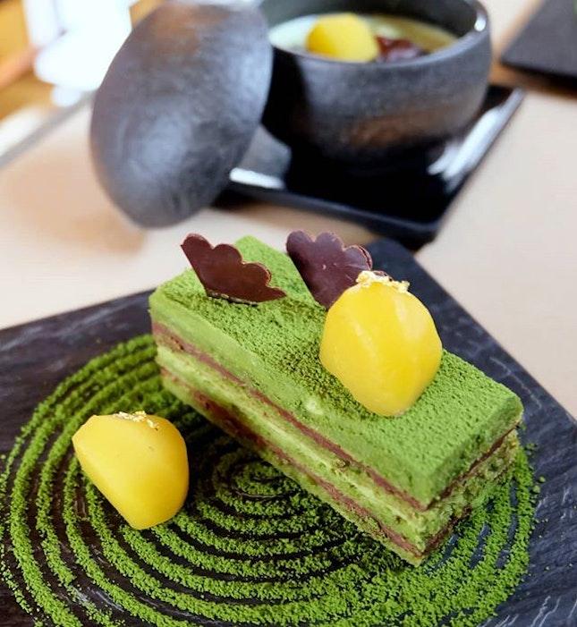 Matcha Opera Cake& Matcha Shiratama Zenzai