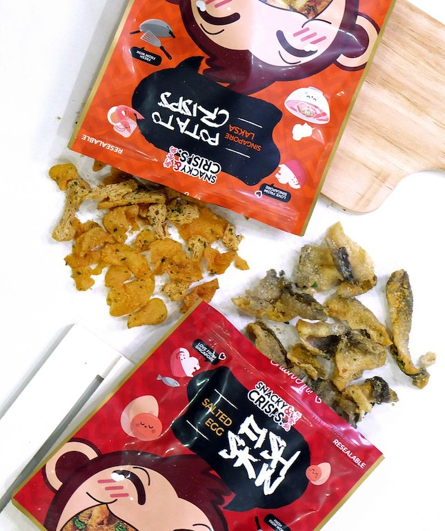Salted Egg Fish Skin & Laksa Potato Crisps
