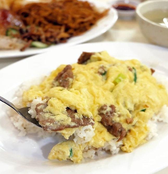 滑蛋牛肉饭 Beef & Egg with Rice