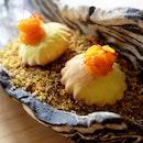 Saffron Puff [Part of the Five-course Degustation menu ($188)]