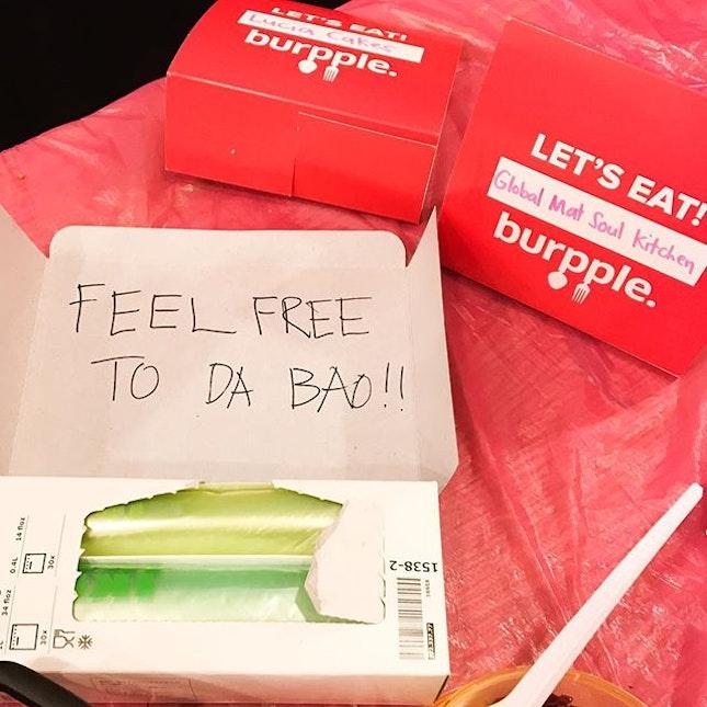 Feel free to Dabao!