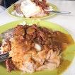 Hainanese curry rice and crispy pork chop