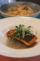 Salmon On Sweet Potato Noodles ($28)
