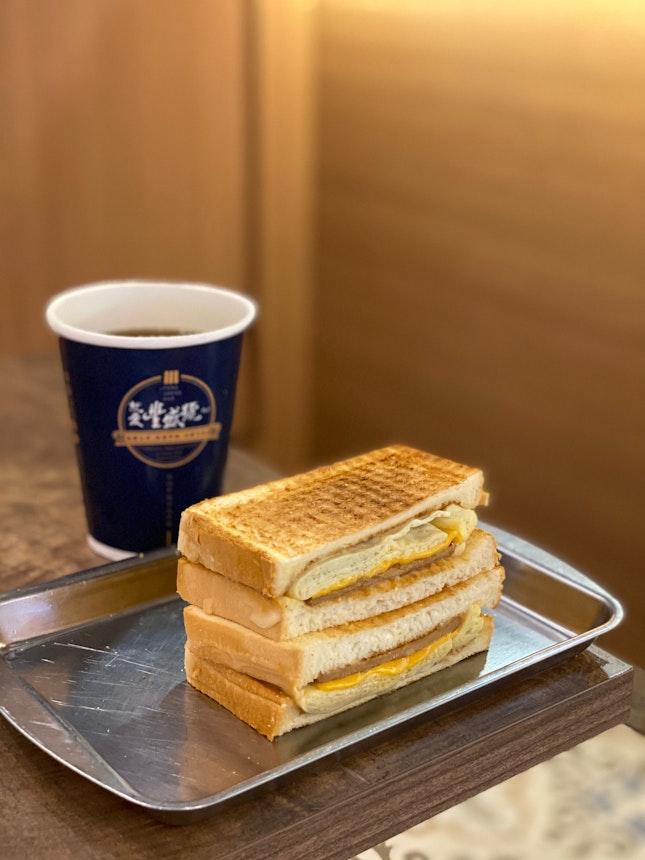 Pork Egg And Cheese Sandwich ($8.90 With Black Cane Sugar Tea)