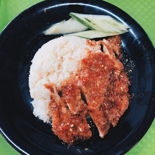 Chicken Rice With Thai Sauce