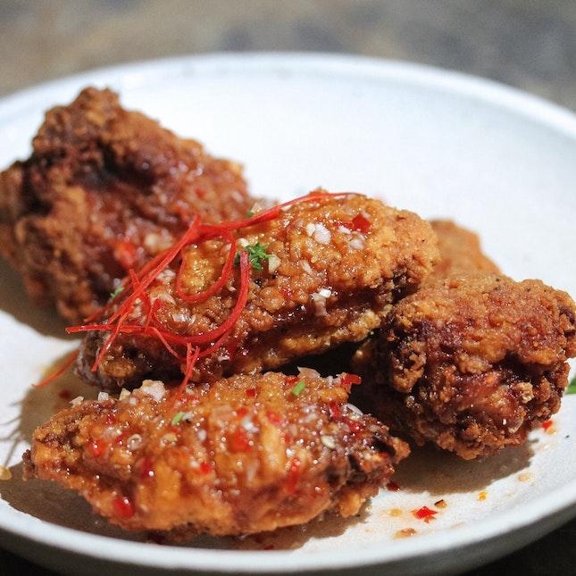 Chilli-Glazed Fried Fermented Bean Paste Chicken Wings