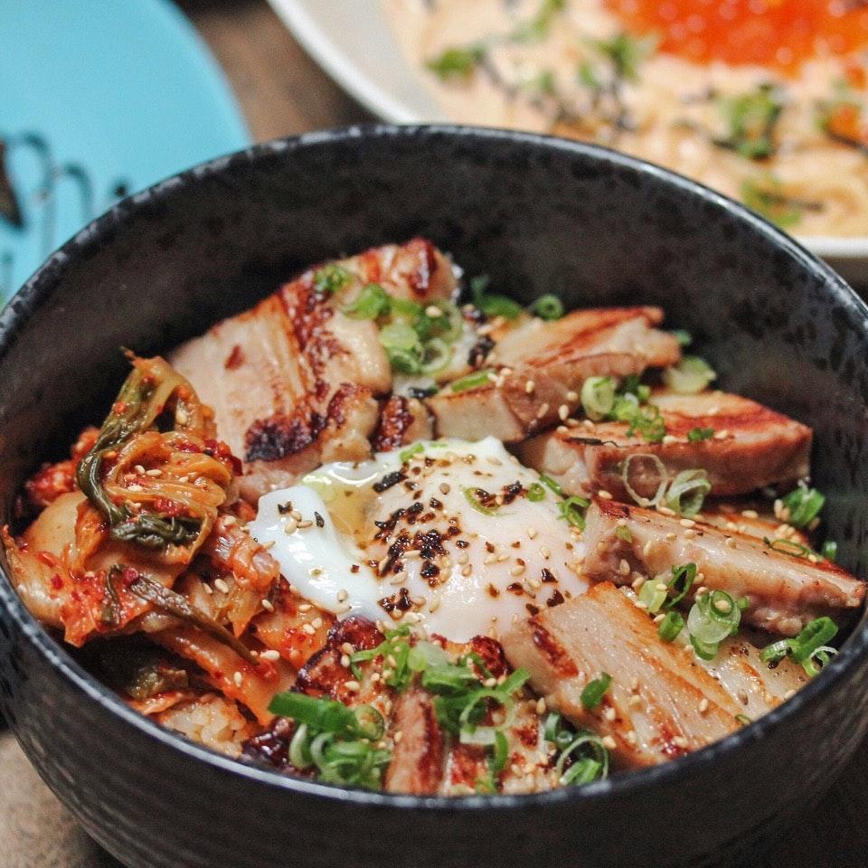 Miso Pork Belly Rice Bowl