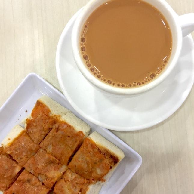 Otah Toast; Teh C Kosong ($3.60)