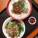 Fish Porridge; Raw Fish Salad ($7 In Total)