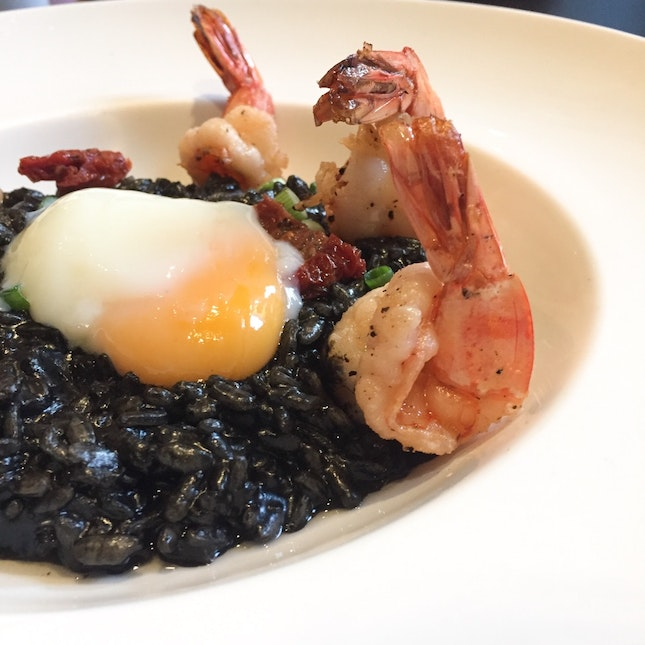 Squid Ink Risotto ($28)