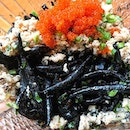 Squid Ink 'mee tai mak'  Gorgeous servings of 'bak chor' minced pork alongside tobiko, the Japanese flying fish roe and then followed by..